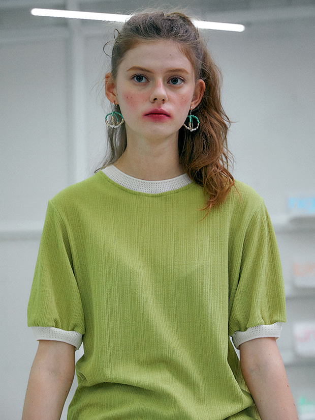 20SS capsule LUCKY summer knit_LIME