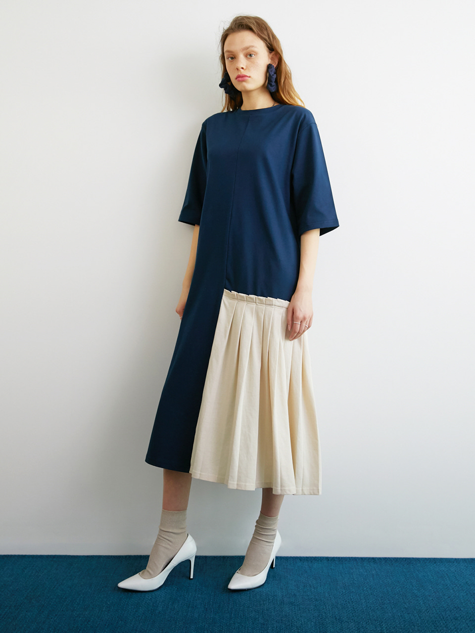 COMPOSURE DRESS_NAVY